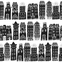 Set of Hand drawn houses.