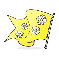 cartoon flower flag