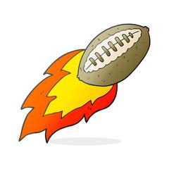 cartoon flying football