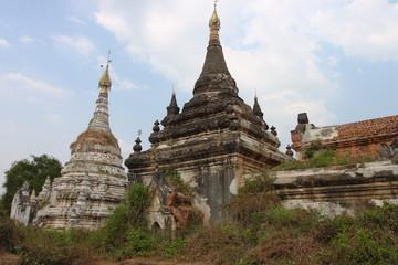 old Buddhist Temple ruins at Inwa near Mandalay. Myanmar