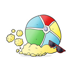cartoon beach ball