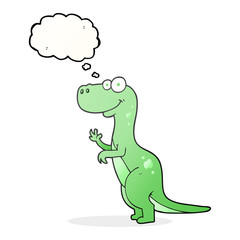 thought bubble cartoon dinosaur