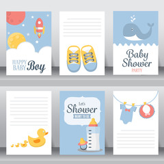 baby shower invitation card, vector