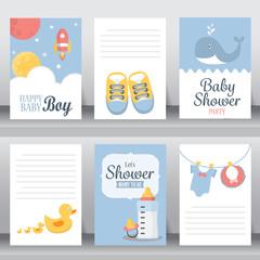 baby shower invitation card, vector