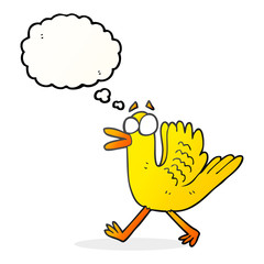 thought bubble cartoon flapping duck