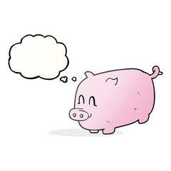 thought bubble cartoon pig