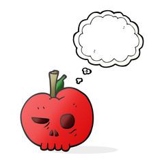 thought bubble cartoon poison apple