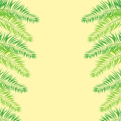 Vector Illustration of a Natural Background with Palm Trees