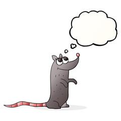 thought bubble cartoon rat