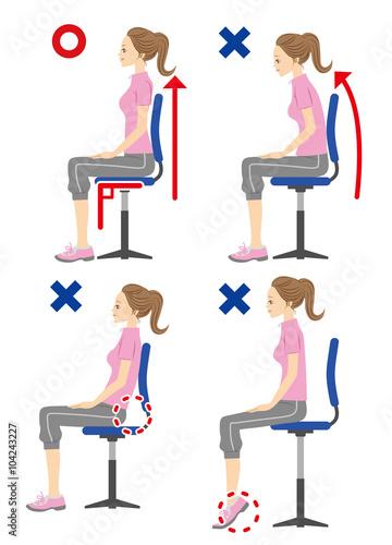 「正しい姿勢 フリー素材」の画像検索結果