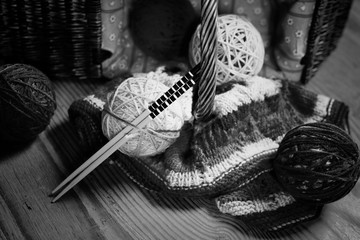 hobby black and white ball