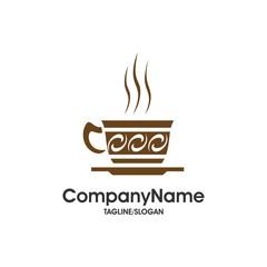 Coffee and Tea Cafe logo icon vector