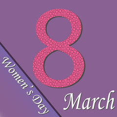 Vector 8 March Women's Day greeting card template
