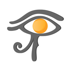Eye of Horus icon, cartoon style