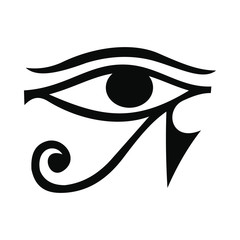 Eye of Horus icon, simple style