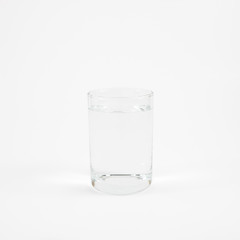 The medium cylinder glass of pure mineral water.