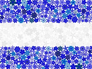 Floral mosaic Nicaragua flag