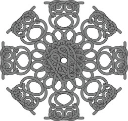 Beautiful vintage round pattern