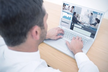 Composite image of business interface