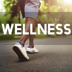 Wellness Wellbeing Running Enjoyment Exercising Concept