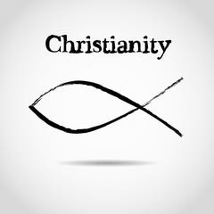 christian fish symbol. logo