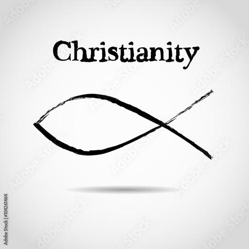 Christian Fish Symbol Logo Stock Image And Royalty Free Vector