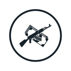 guns and money icon