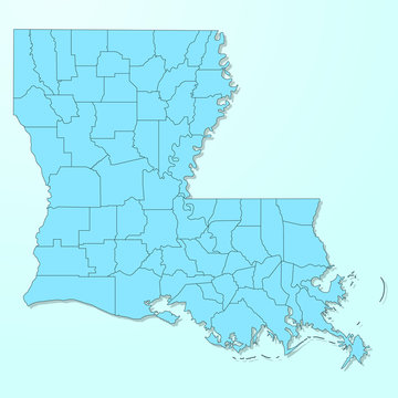 Louisiana blue map on degraded background vector