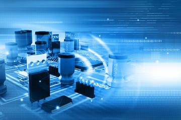 Digital illustration of electronic circuit board