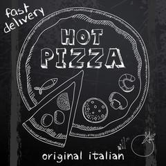 hot pizza advertisement
