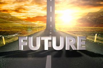 future road sky upwards sky sun highway up grow motivation