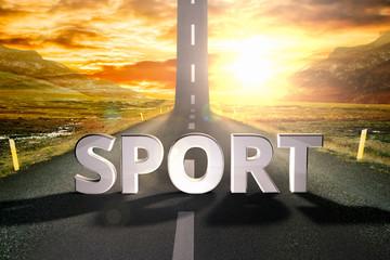 sport road sky upwards sky sun highway up grow motivation