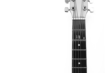 String of guitar black and white