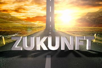 german zukunft road sky upwards sky sun highway up grow motivati