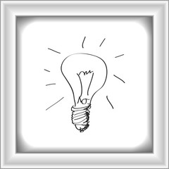 Simple doodle of a lightbulb