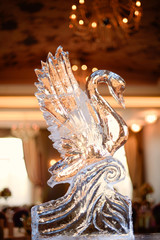 Decorative ice swan