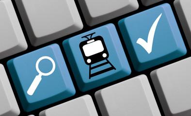 Online Straßenbahn Zug suchen