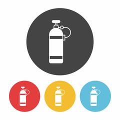 Oxygen bottles icon