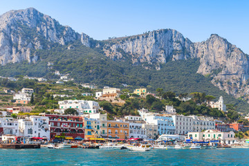 Landscape of Capri island, Italy in summer