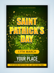 Pamphlet, Banner or Flyer for Patrick's Day.