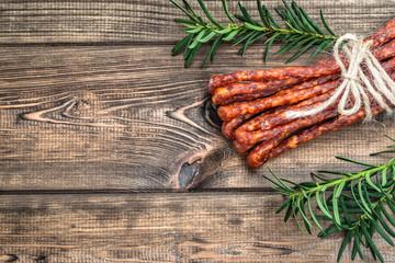 Dry smoked pork sausage
