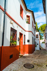 The streets of the beautiful Ronda. Andalusia. Spain