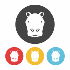 animal hippo icon