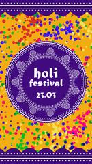 Vector background or banner for Holi festival. Happy Holi. Design for celebration