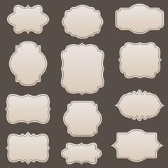 Vector decorative frames set, vintage style collection