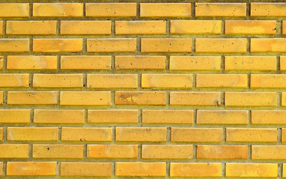 Yellow brick wall for textures background