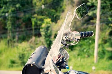 Motorcycle chopper Handlebars on the road