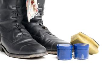 Stiefel putzen