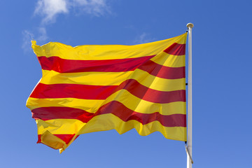 Catalan flag waving