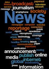News, word cloud concept 5